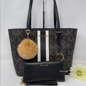 Michael Kors JST Medium Carryall Tote and Wallet